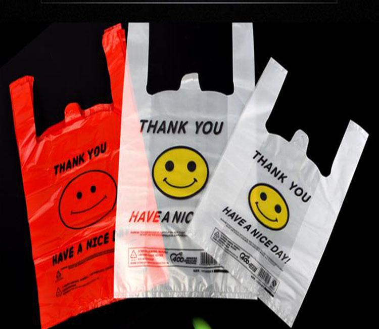 HDPE LDPE Plastic shopping t-shirt bags