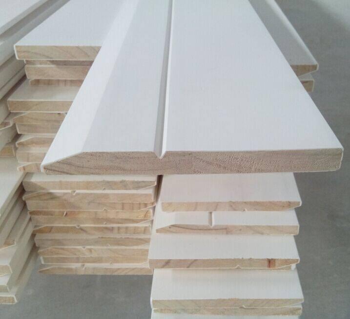 """16' Base moulding primed, 7/16""""x3 1/4"""" primed colonial baseboard"""