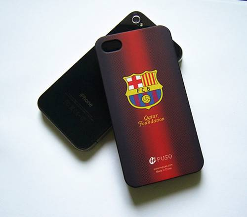 FCB football team plastic hard cell phone back cover for iphone 4/4s