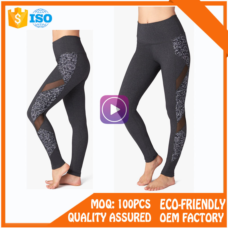 Dri Fit Custom Polyester Sublimated Sexy Fitness Leggings Gym Sports Yoga Pants With Mesh