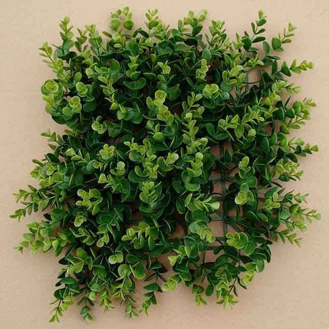 Wall Decorative Plastic Outdoor Artificial Boxwood Shrub for Sale