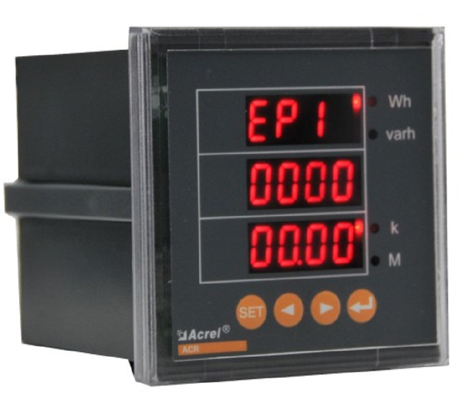 three 3 phase digital multifunction meter power meter LED energy accumulation ACR100E