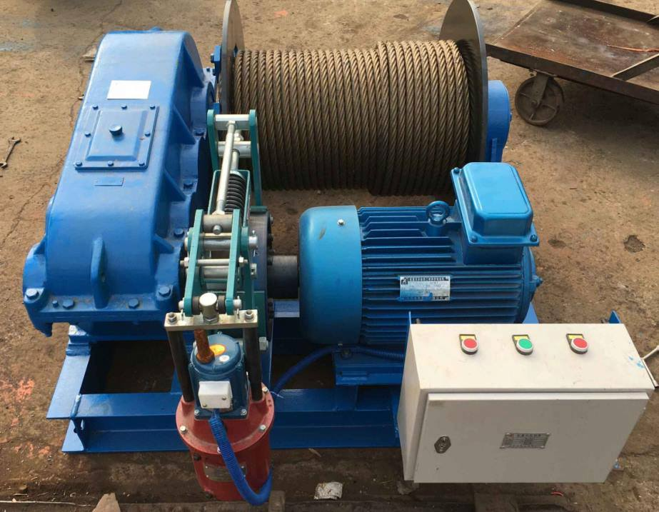 220V/380V/400V Customized Wire Rope Drum Electric Winch 5 Ton
