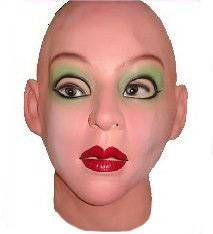 Supersoft & Sexy Female realistic mask and Halloween Masks can Moves with Face.