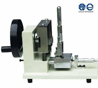 Manual plastic sample V notch cutting machine