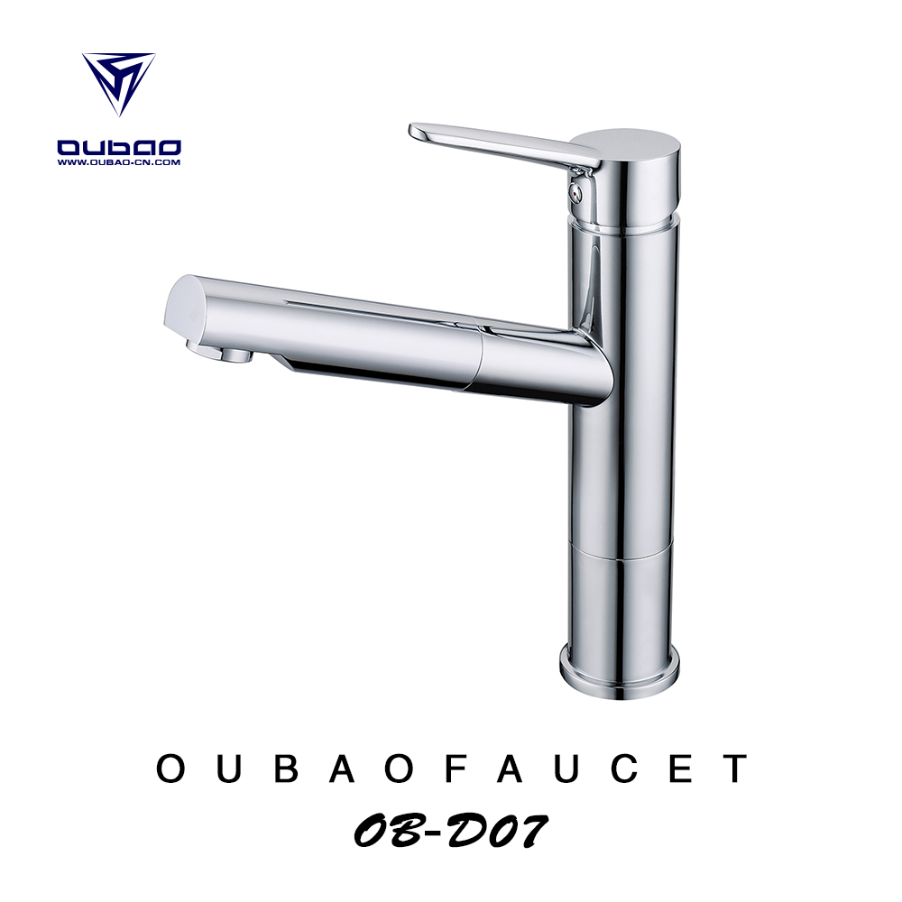 Hot sales polished chrome kitchen faucet with contracted modelling China supplier