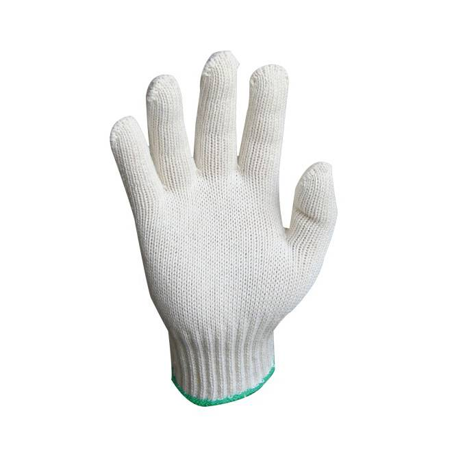 10G nature 500g cotton knitted safety working gloves