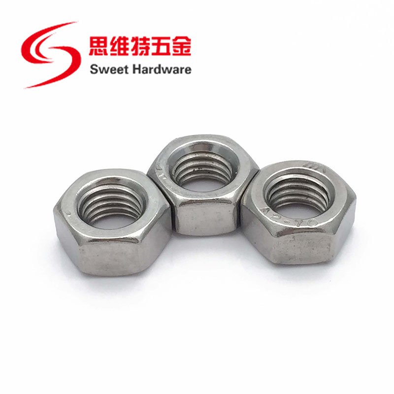 DIN934 stainless steel hex nut carbon steel zinc plated hex nut M6M8M12
