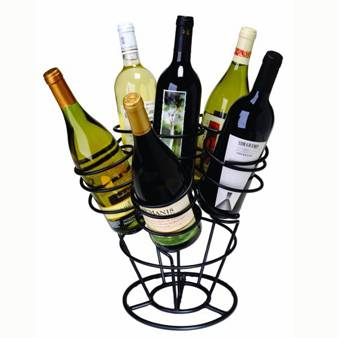 Metal wine display stand