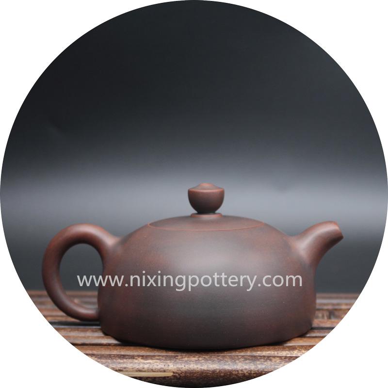 Pottery Half Moon Shape Handmade Tea Pots Kung Fu Drinkware 180ml