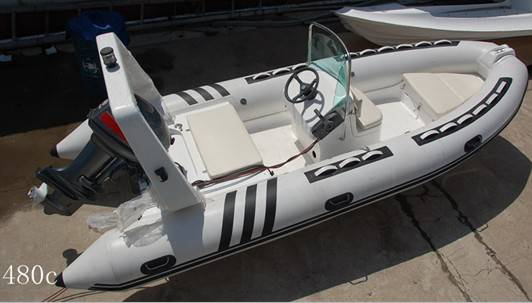 16 feet rigid inflatable boat RIB480c yacht tender