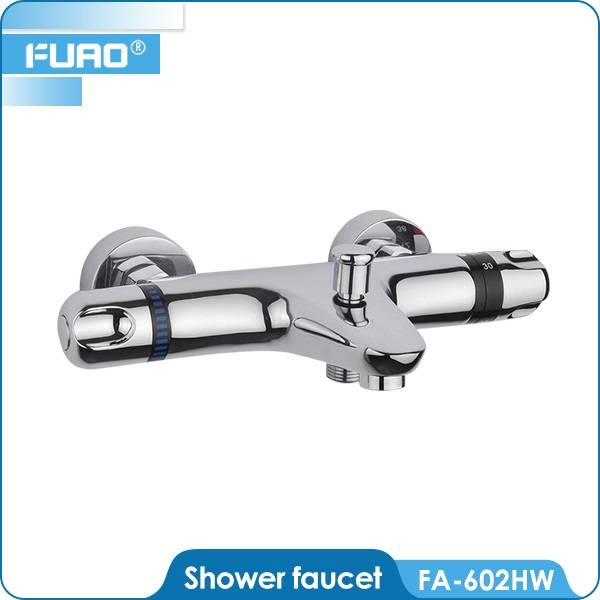Bathroom thermostatic shower mixer