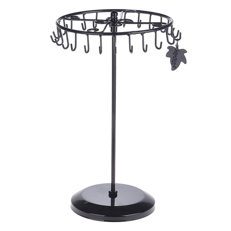 Metal Organizer Holder Jewelry Tree Stand Jewelry Display for Earrings Bracelets Necklaces (Black