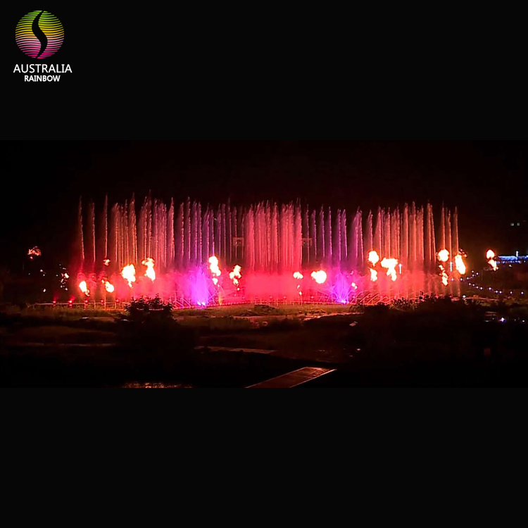 Guangzhou China Offer Large-scale Fire and Water Fountain Show For Outdoor Lake Sea