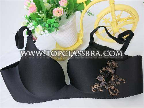 Black Sexy Deep Bra Cup One Piece Seamless Bra with SGS