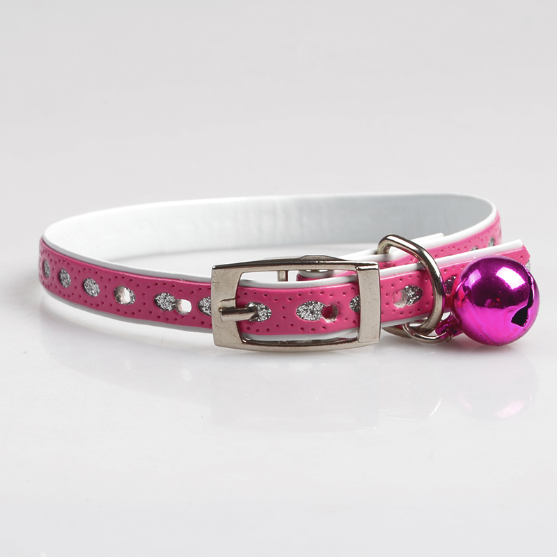 PU leather cat collar