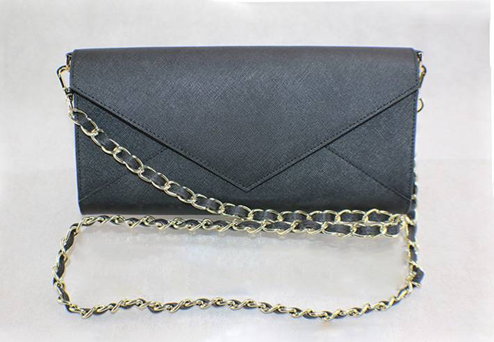 Envelope clutch with long shoulder strap