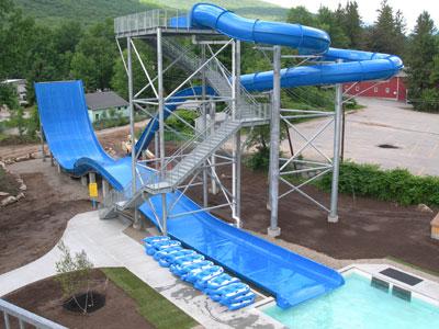 Exciting Boomerang Fiberglass Pool Slide for Children