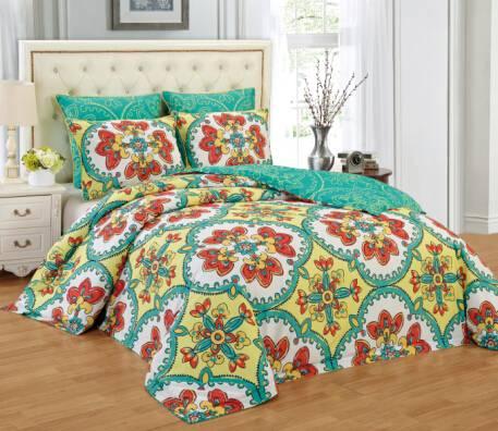 Printed Comforter Sets Polyester Floral 6-piece Comforter sets