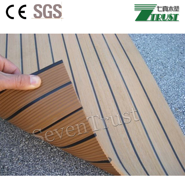 Discount Long lifetime outdoor PVC boat decking
