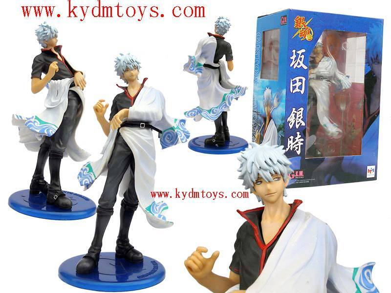 MOQ(USD300) 21cm Sakata Gintoki for Gintama plastic toys action figures (pc) ky1074