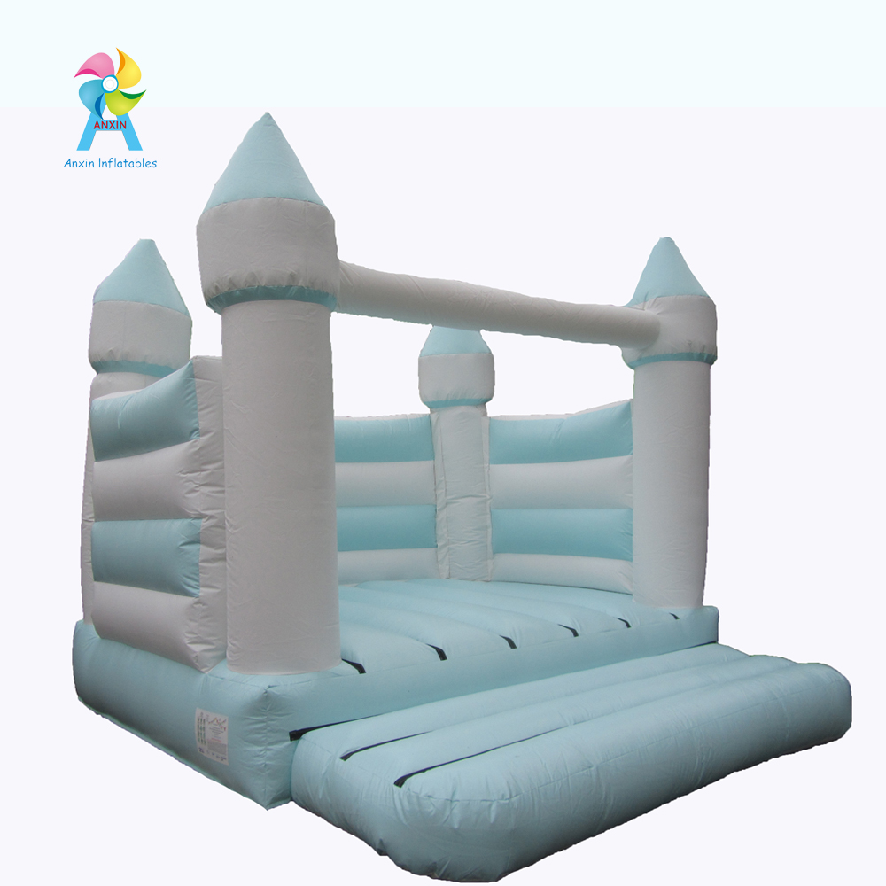 Inflatable Romantic wedding castle outdoor white jumping castle for new couples outdoor wedding phot