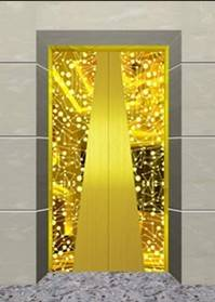 Titanium  elevator door stainless steel  panel