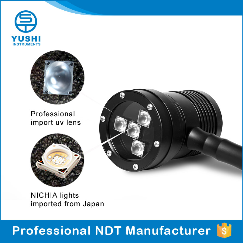 YUSHI UV NTD Lamp Industrial Inspection Lamp Rechargeable 365nm Led UV Lamp