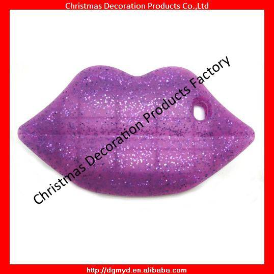 Glitters lip shape 3D silicone phone case