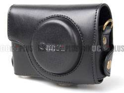 For Canon Powershot S90 Pro Leather Case (Black)