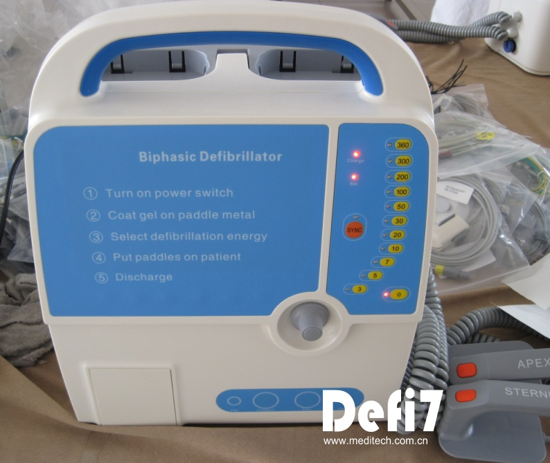 Defi7 Monophasic Defibrillator Biphasic Defibrillator (option