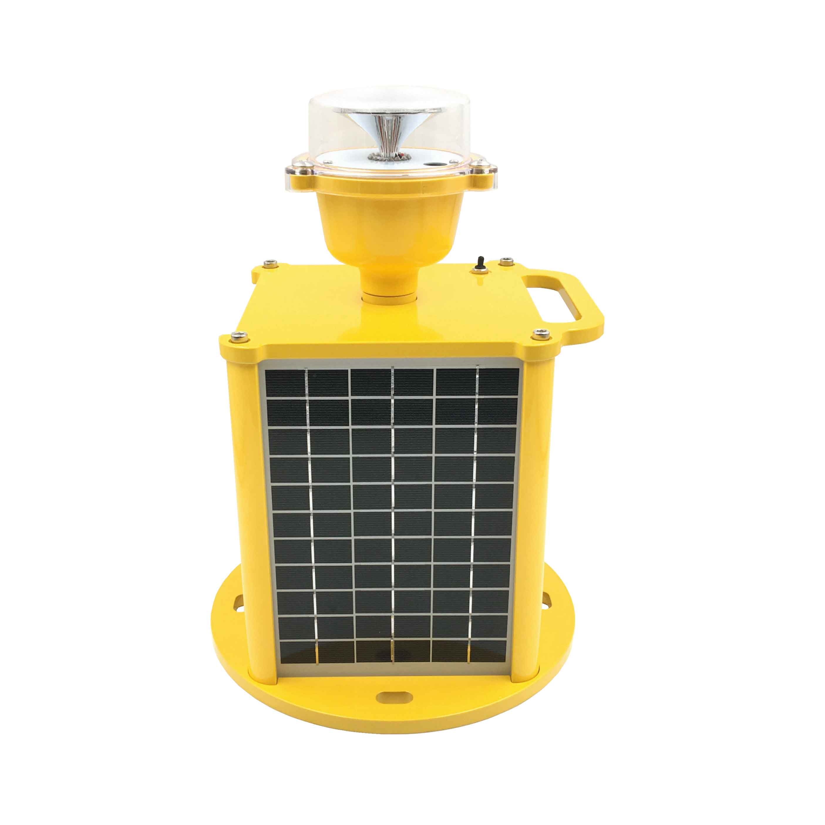Newest IP68 ICAO standard solar powered Low intensity aircraft warning light for sale