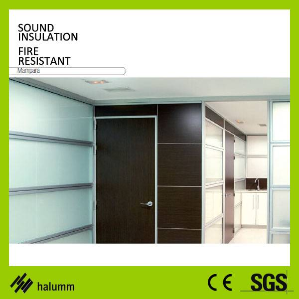 Double glass office partition tempered glass high partition wall divider inside wall corridor glass