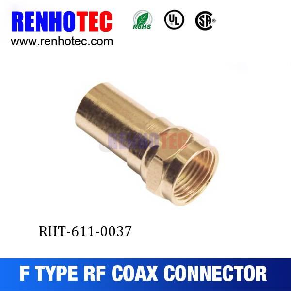 Dosin High quality Straight Gold-Plating Plug F connector
