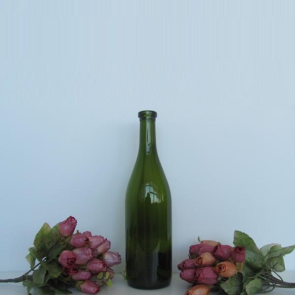 High quality long neck burgundy 750ml wine glass bottle