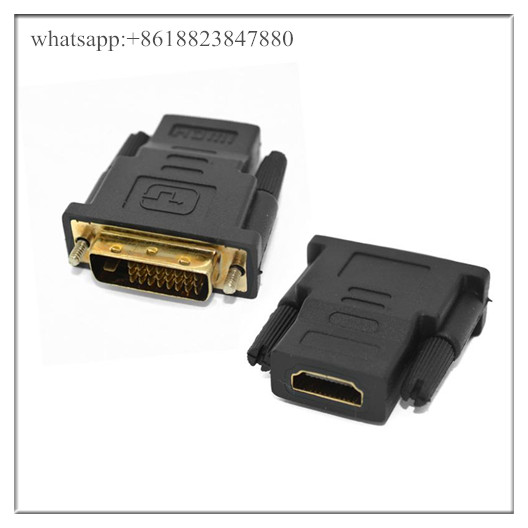 New 24 + 1 DVI Male To HDMI Female Converter Adapter Adaptor Dual Link Connector for HDTV PC LCD Who