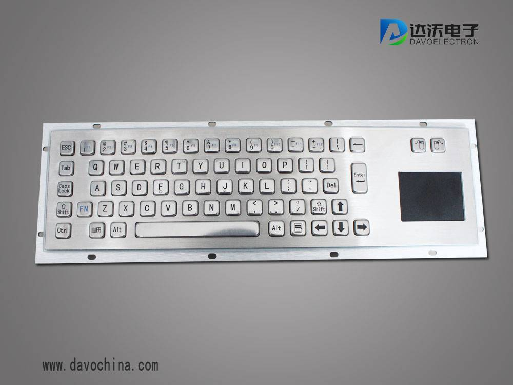 kiosk/computer/Industrial stainless steel Metal PC Keyboard with