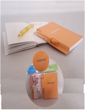 Travel Soft Cover Book with ball pen