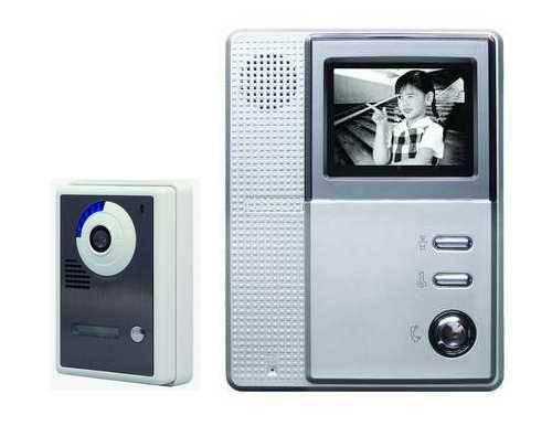 Wired 4inch B/W video intercom door phone cmos ccd