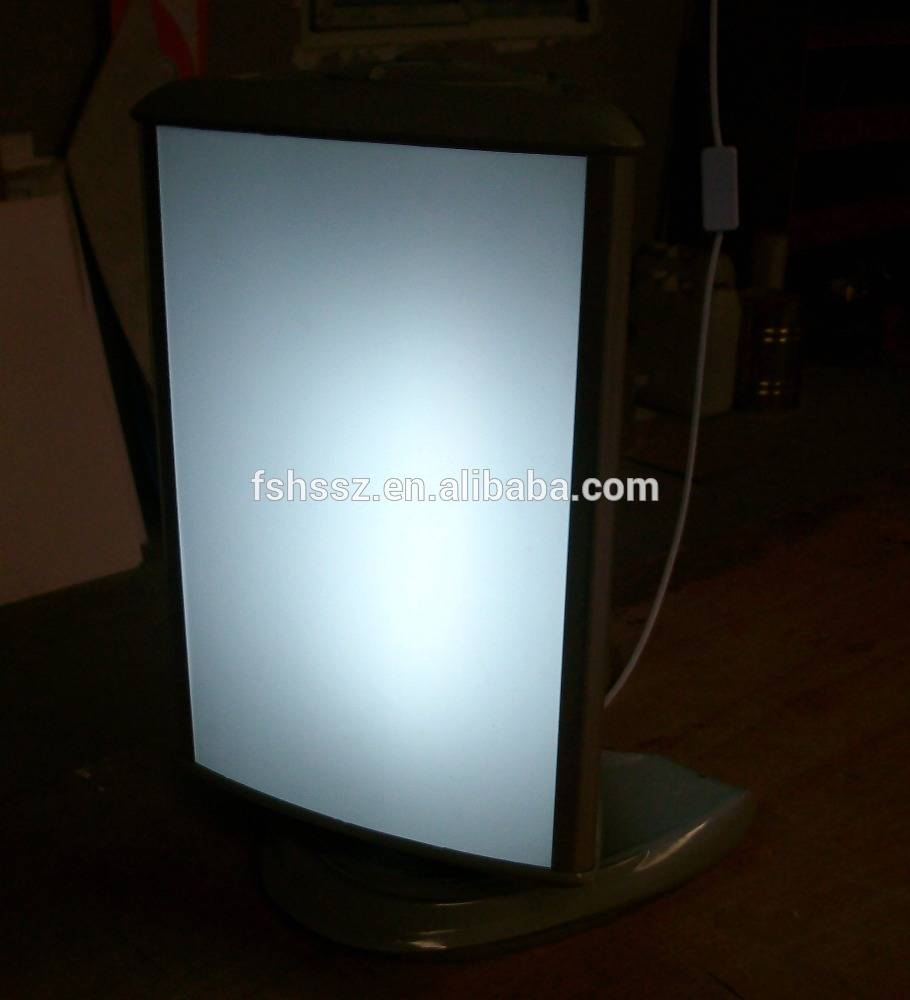 Table top cheap price advertising promotion light box HS-D2