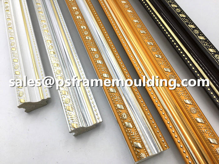 PS frame mouldings for picture frame photo frame