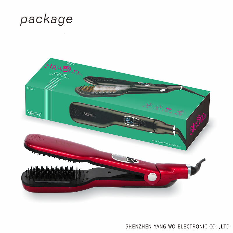 Steam function PTC heating hair straightener comb