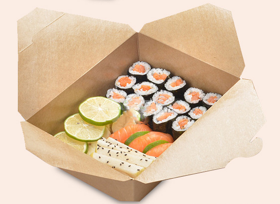 Disposable Color Printed Paper Package Box for Food