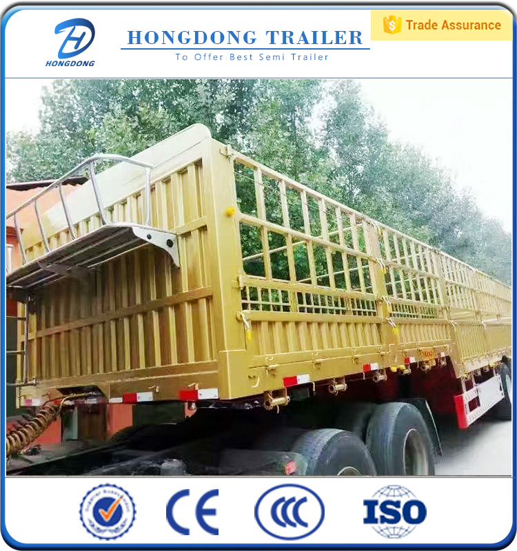 stainless steel 3 axles 40t fence semi trailer
