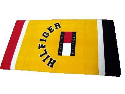 Printing or embroidery beach towel with customized design