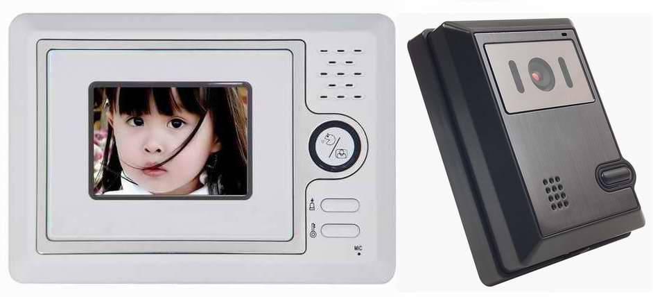 4inch color handfree video doorphone