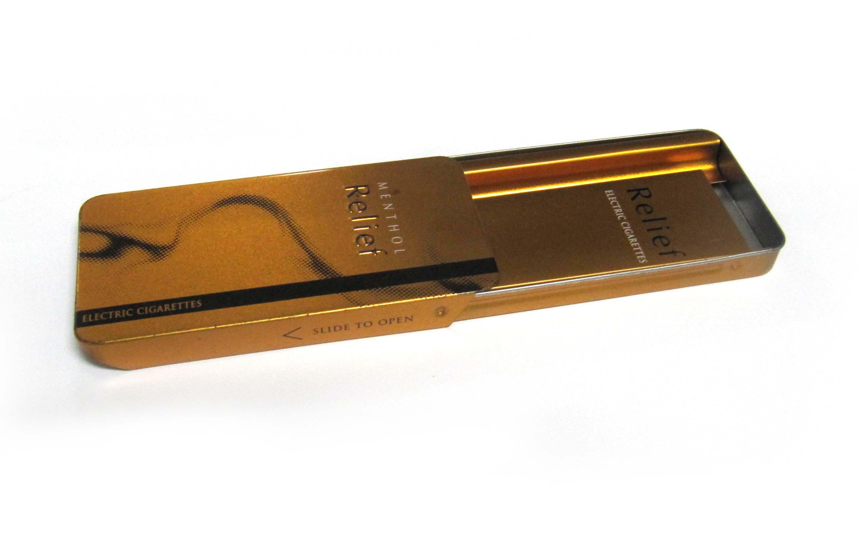 Factory price electronic slide smoke tin case