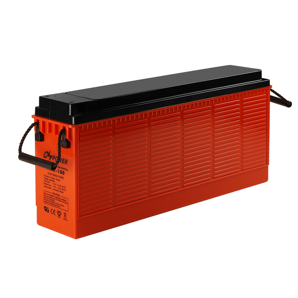 12V 100Ah front terminal slim gel battery for telecom