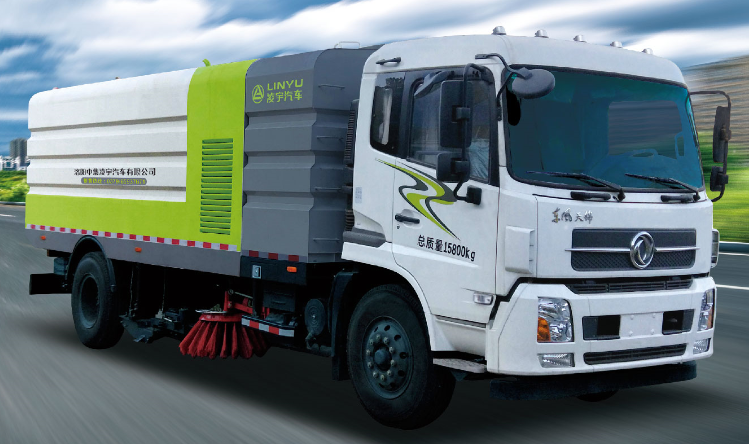 Unloadable garbage truck with gas compartment
