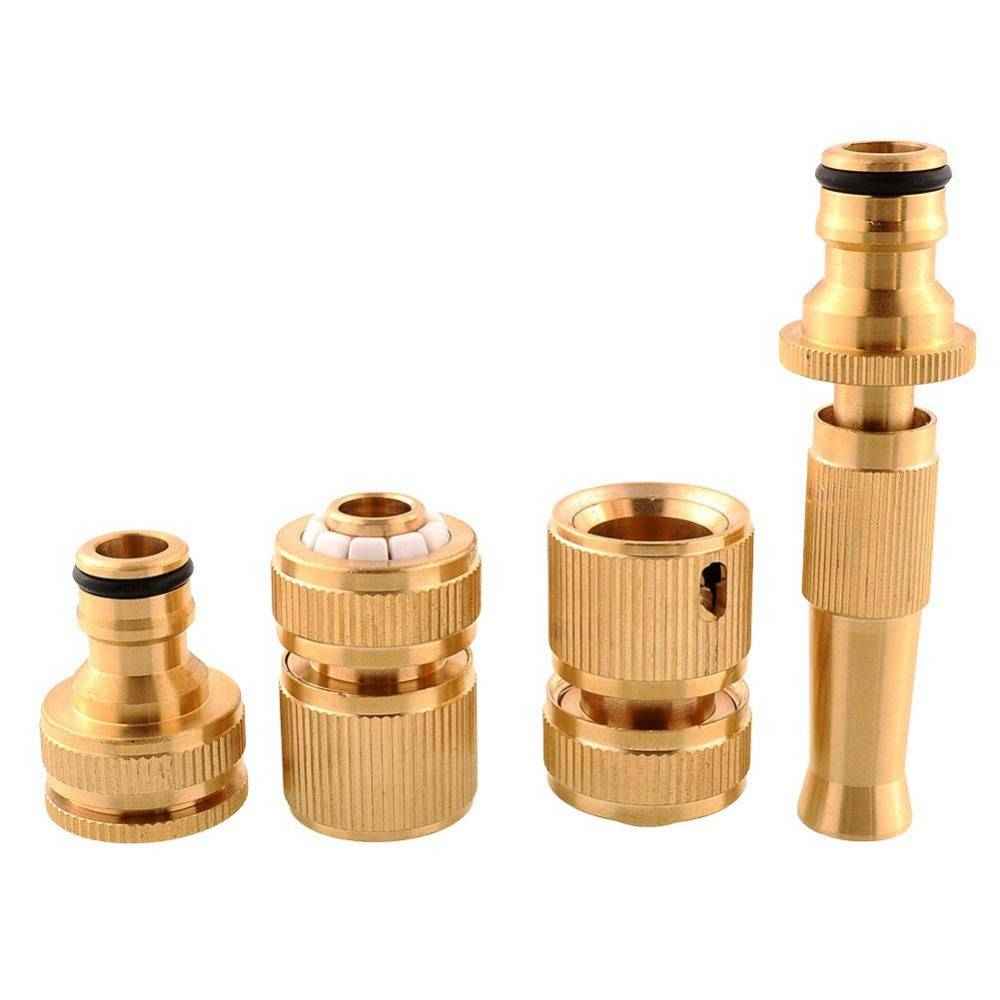 Brass Threaded Faucet Hose Water Pipe Tap Connectors Nozzle Snap Adaptor Fitting Garden Outdoors Spr
